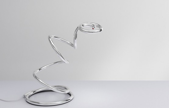 Very Flexible Modern Table Lamp PizzaKobra By Ron Arad