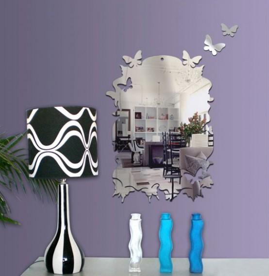 Future House Design: Wall Mirror Stickers By Tonka Design