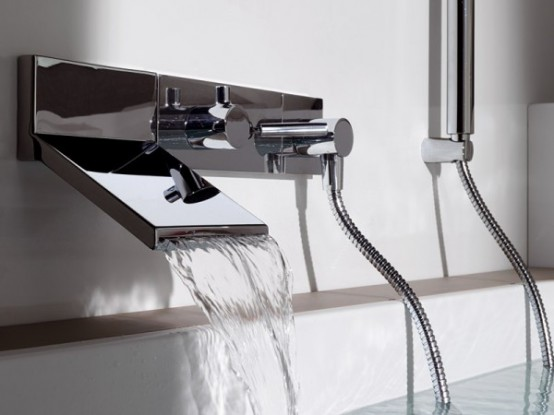 Wall Mount Waterfall Faucet For Stylish Bathroom