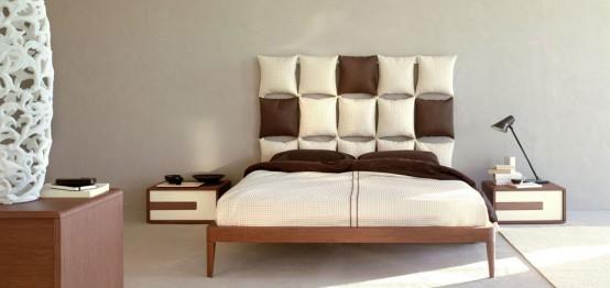 Creative Headboard white bed with unusual and creative headboard - pixelolivieri