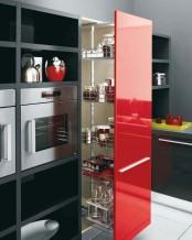 White, Black And Red Kitchen Design Gio By Cesar