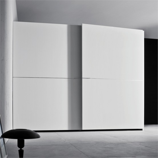 White Wardrobe For Minimalist Interior Design Orizzonte And Tratto By Pianica