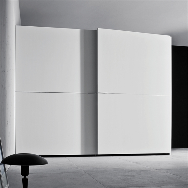 White Wardrobe For Minimalist Interior Design – Orizzonte And Tratto By Pianca