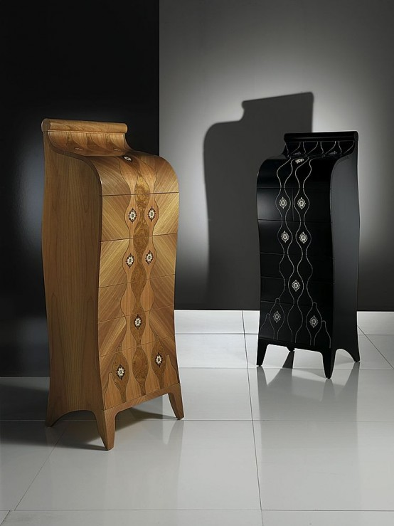 Wood Chest of Drawers for Elegant Bedroom Design from Carpanelli
