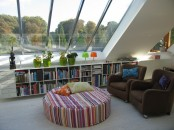 A Sunroom With Low Pitched Ceilings