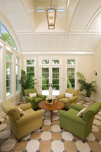 Decorating a sunroom isn't that much different than decorating any other room in the house.