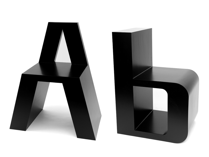 Typographic-Inspired Chairs – ABC Chairs