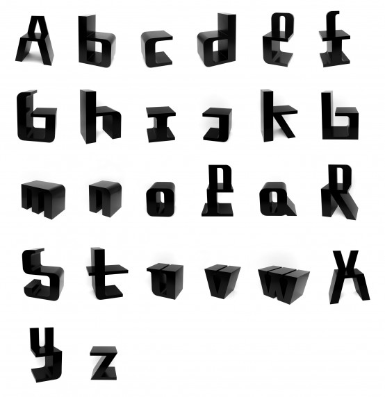 Typographic Inspired Chairs Abc Chairs Digsdigs