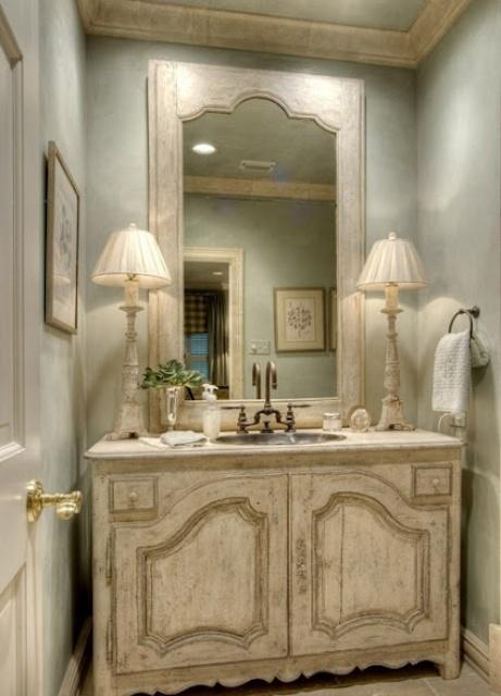 charming spa bathroom accessories | 22 Absolutely Charming Provence Bathroom Décor Ideas ...