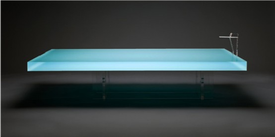 Coffee Table That Reminds a Real Swimming Pool by Freshwest