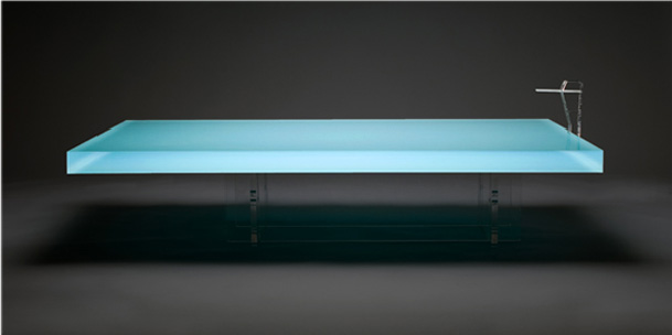 Acrylic Pool Coffee Table
