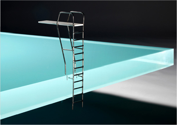 Acrylic Pool Coffee Table