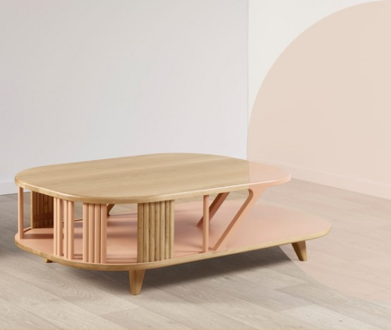 Adjustable Latitude Furniture With Pastel Compartments
