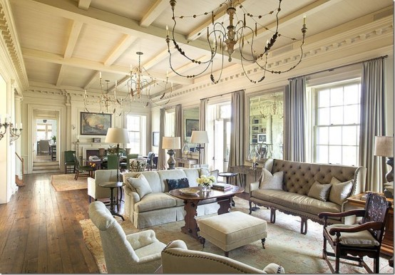 Adorable And Romantic Provence Living Rooms