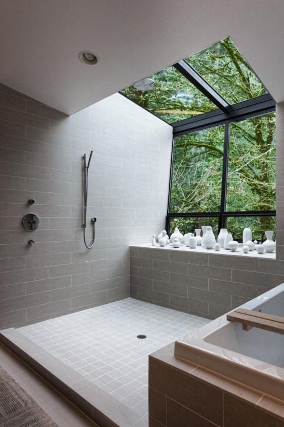 Adorable Bathroom Designs With View