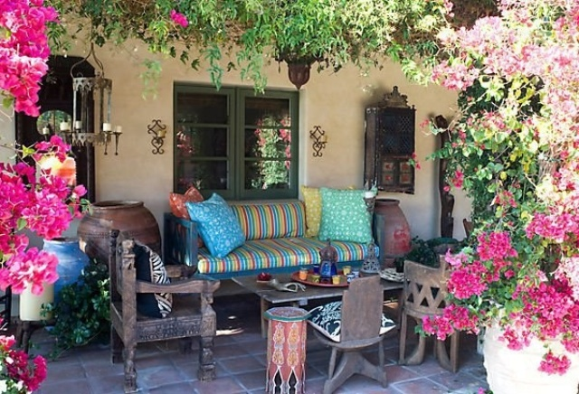 26 adorable boho chic terrace designs digsdigs - Decoracion de patios exteriores ...