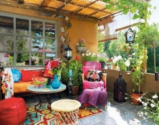 Adorable Boho Chic Terrace Designs