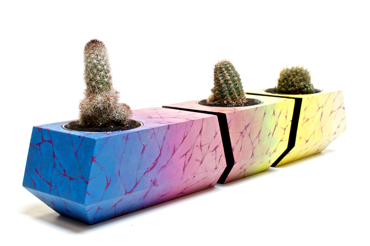 Adorable Boxcar One Planters Decorated By Artists