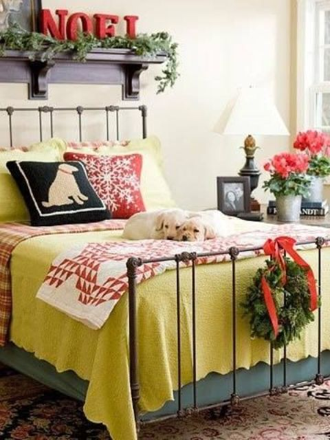 Ordinaire Adorable Christmas Bedroom Decor Ideas