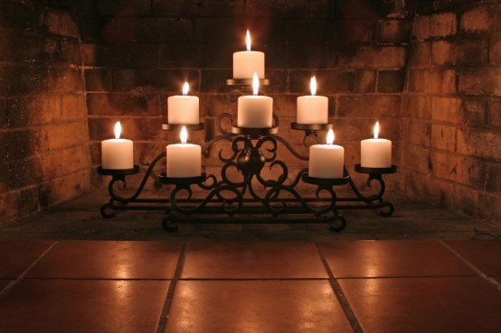 Fireplace Candles 30 adorable fireplace candle displays for any interior - digsdigs