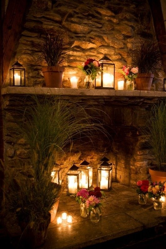 Adorable Fireplace Candle Displays For Any Interior - 30 Adorable Fireplace Candle Displays For Any Interior - DigsDigs