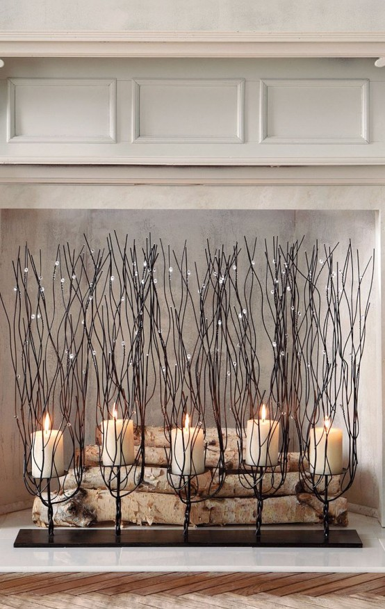 Have a faux fireplace? Or maybe you don't want to burn anything? Take candles! Candles are an awesome way to bring subtle charm and coziness! We've rounded