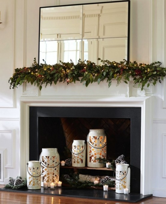 Inside Fireplace Decor 30 adorable fireplace candle displays for any interior - digsdigs