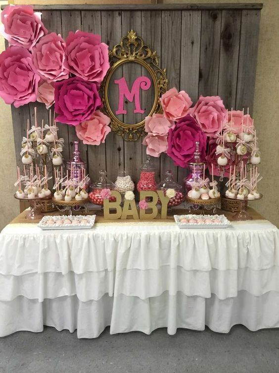 Picture Of adorable girl baby shower decor ideas youll like  1