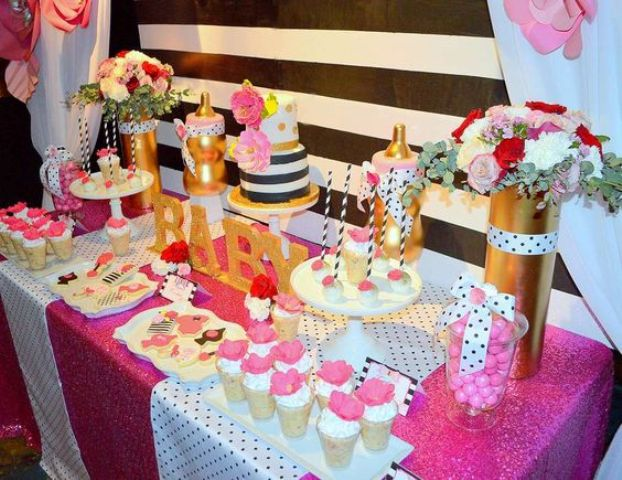 Picture Of adorable girl baby shower decor ideas youll like  16