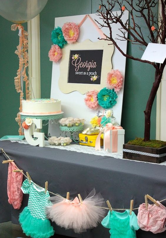 Picture Of adorable girl baby shower decor ideas youll like  2