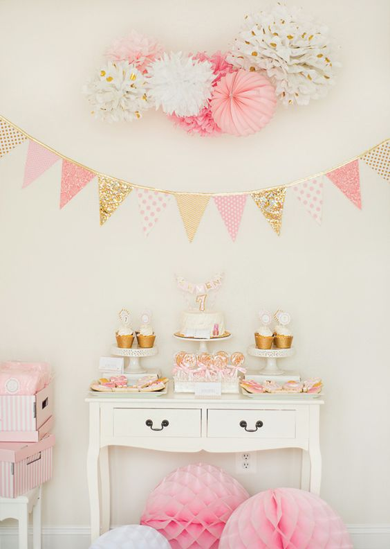 38 adorable girl baby shower decor ideas you ll like for Baby shower decoration ideas blog