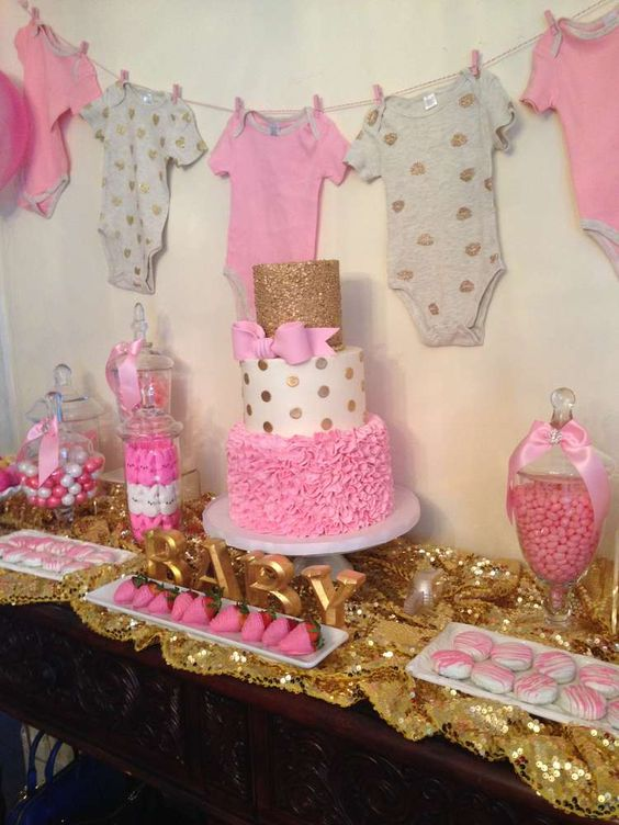 Picture Of adorable girl baby shower decor ideas youll like  7