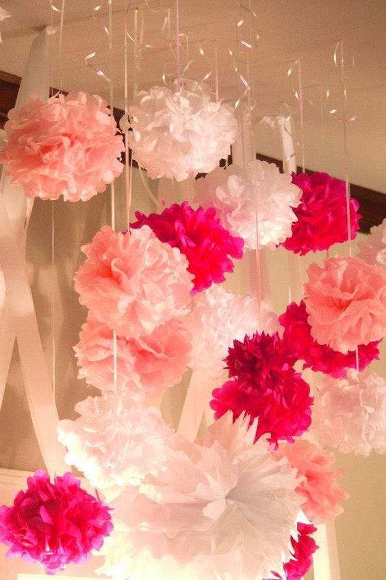 38 adorable girl baby shower decor ideas you ll like - Baby girl baby shower decorations ...