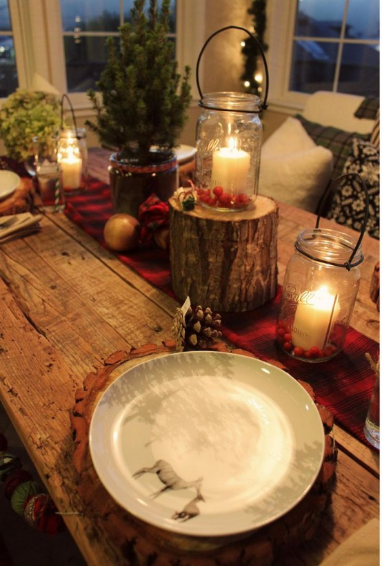 30 adorable indoor rustic christmas d cor ideas digsdigs for Decorate christmas ideas your home