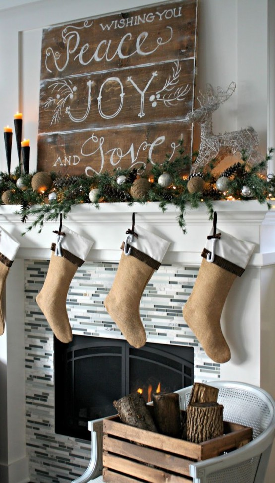 adorable indoor rustic christmas decor ideas - Rustic Christmas Decorations