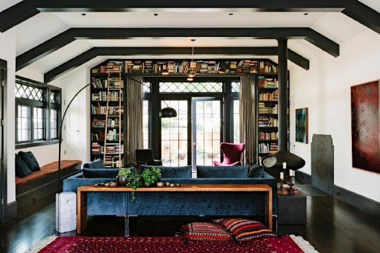 Adorable Library House With Bookshelves In Every Room