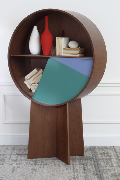 Adorable Luna Cabinet With Pivoting Doors