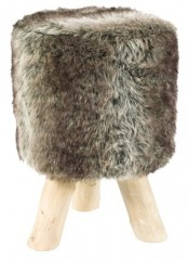 a simple faux fur stool – if you don't have it, you may add a cover to your existing one to make it cozy