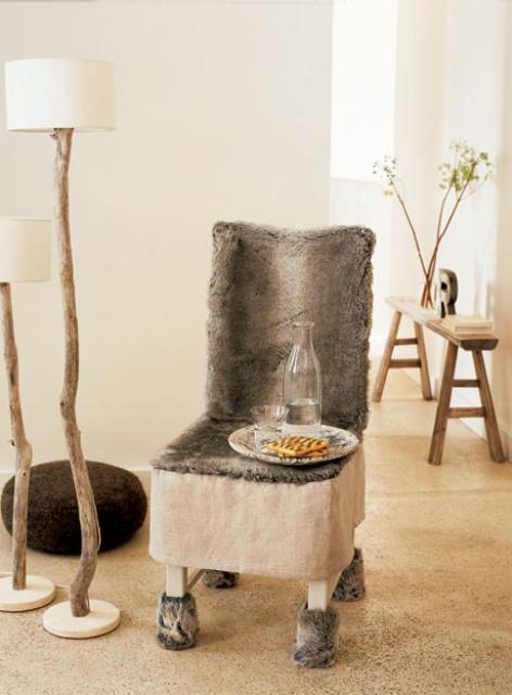 Adorable Warm Fur Furniture Pieces