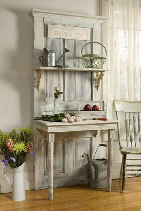 Adorable White Washed Furniture Pieces For Shabby Chic Decor