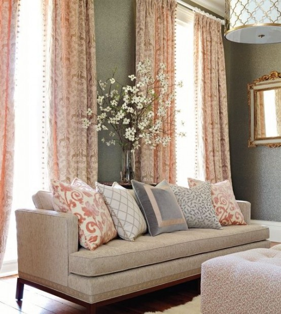 31 Affectionate Peach Accents In Home Décor - Digsdigs
