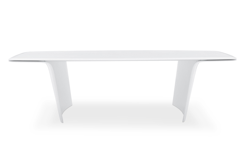 White Mat Table That Seems To Float On Air – Air by Poliform