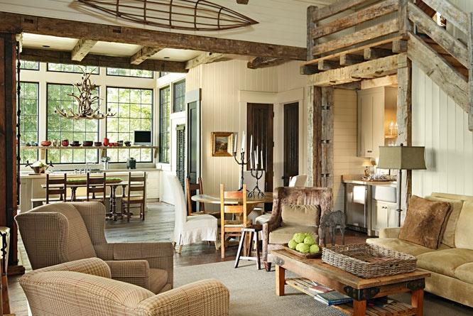 Rustic Living Room Design Ideas 666 x 445