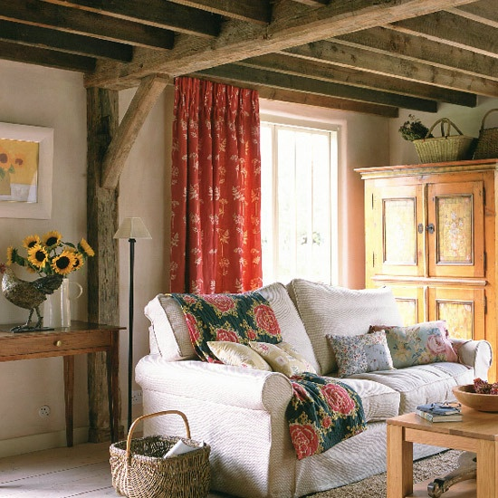 55 airy and cozy rustic living room designs digsdigs for Small country living room ideas