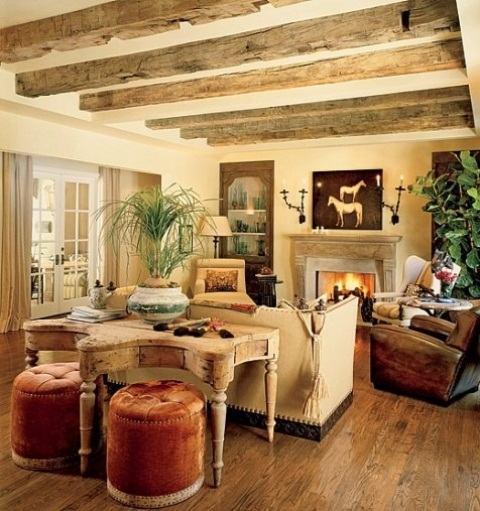 55 airy and cozy rustic living room designs digsdigs. Black Bedroom Furniture Sets. Home Design Ideas