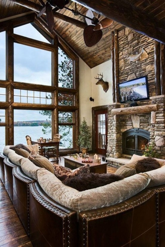 Airy And Cozy Rustic Living Room Designs