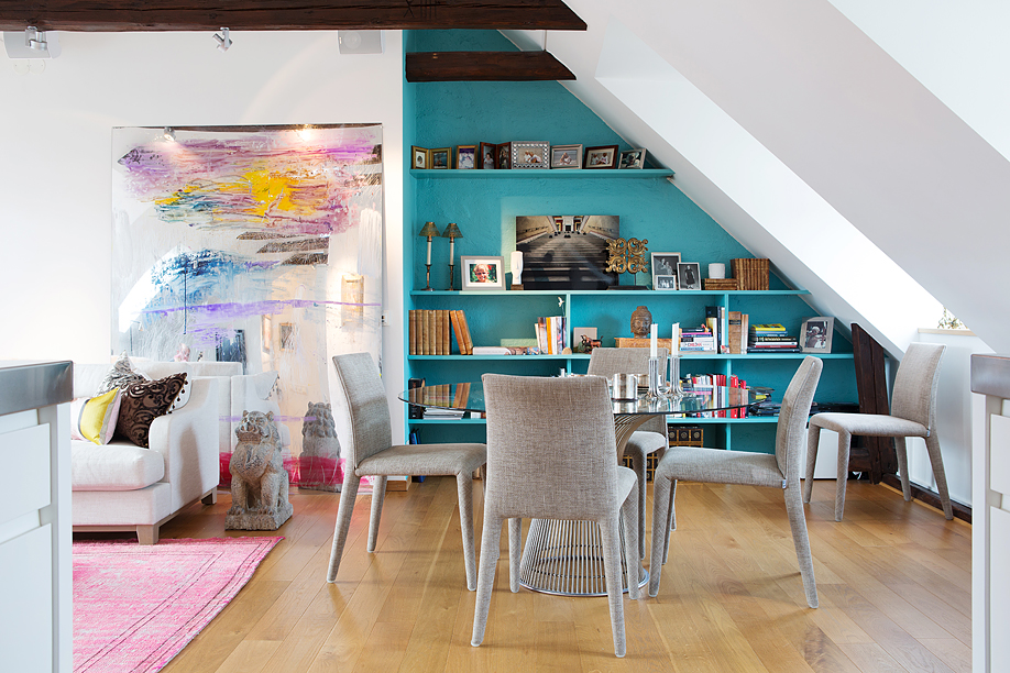 Airy And Eclectic Stockholm Attic Apartment