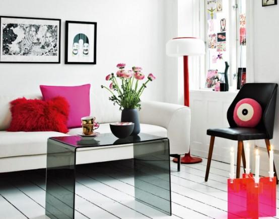 Pink Color Apartment Interior Ideas