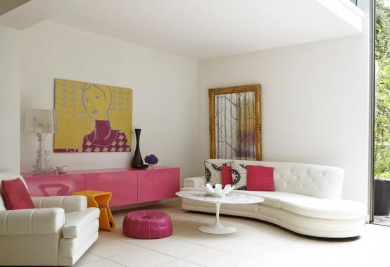 Airy And Elegant Feminine Living Rooms