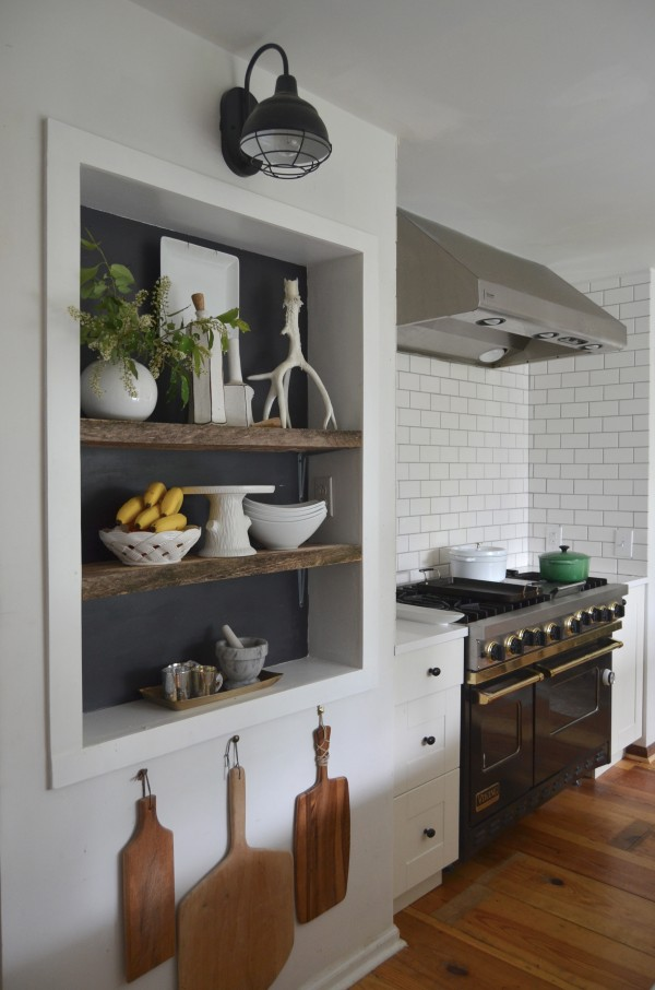 Picture of airy and functional niche shelves for modern - Modern kitchen shelving ...